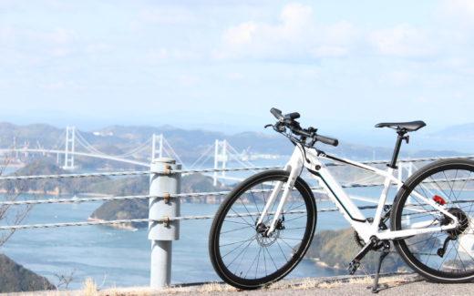 しまなみ e-bike 亀老山展望台より来島海峡大橋を眺める